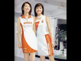 廠家定做酒類亮面彈力宣傳服商場女式促銷服裝