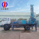 山東巨匠汽車車載式水井鑽機 300型民用岩石空氣動力鑽井機設備