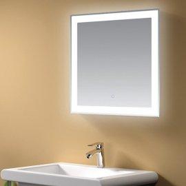 厂家直销 欧式方形LED浴室镜、酒店浴室镜子 梳妆镜