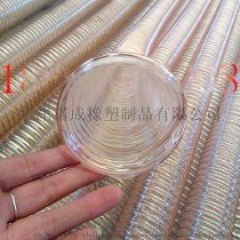 通风除尘钢丝吸尘软管、抽吸刨花钢丝管价格、通风排气钢丝管