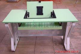 科桌K12钢木制翻转电脑桌 单人办公桌 多功能学生桌