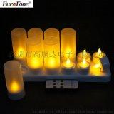 CL213812RY十二充黃光遙控可充電蠟燭燈