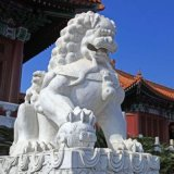 石獅子石雕獅子雕刻石獅子石刻鎮宅闢邪擺件