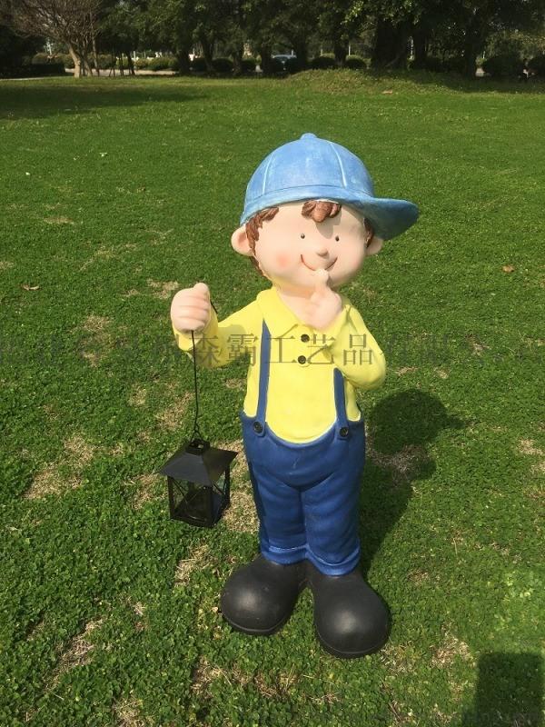 丰收小孩男女卡通工艺品 户外园林景观玻璃钢雕塑