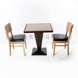 定做咖啡厅餐桌实木餐桌各类小餐桌款式多多众美德厂家