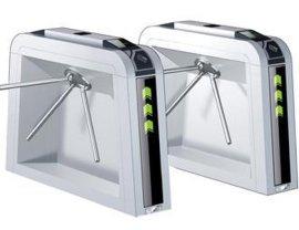 优质不锈钢出入口闸机 三棍闸门禁通道闸系统-立式智能刷卡三辊闸厂家