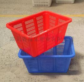 孝感塑料筐厂家周转筐批发加厚塑料筐价格多用洗碗筷筐长方形塑料箩筐