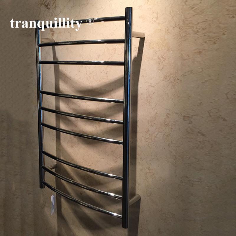 9杆弧形圓管電熱毛巾架,外貿專用不鏽鋼電熱毛巾架