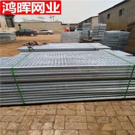 河北安平鸿晖化工厂热镀锌异型脱硫塔钢格栅钢格板