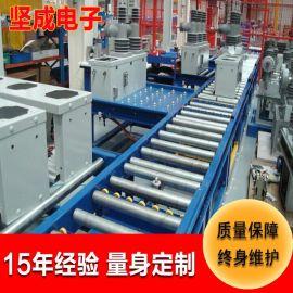 深圳流水线 坚成电子无动力滚筒流水线BLN20不锈钢链板滚筒生产线