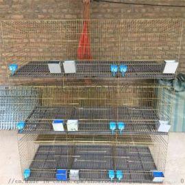 加粗加密 竹地板兔笼子 3层12位子母兔笼 种兔笼位