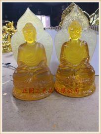供应千佛殿、万佛殿玻璃钢小佛像,琉璃小佛像生产厂家