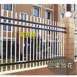 广西南宁锌钢护栏围墙栏杆铁艺围栏小区工厂隔离栏