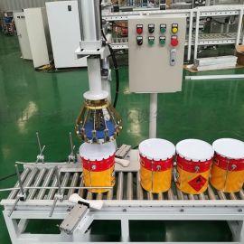 自动压盖机厂家直销5L10L20L铁桶法兰盖压盖器封口钳