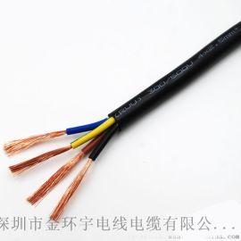 电源线RVV四芯2.5平方国标国标金环宇电缆