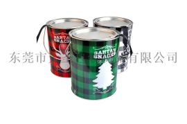 透明PET罐圣诞礼品铁罐