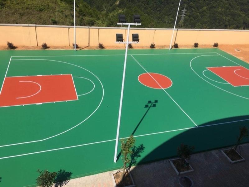 广西内塑胶篮球场 招投标 项目部定做硅PU篮球场