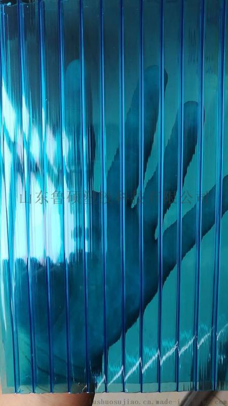 泰安工程pc中空阳光板雨棚