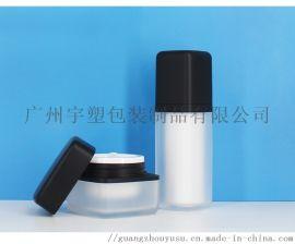 亚克力材质真空瓶 乳液套装瓶厂家直销 透明圆形