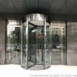 广西三翼旋转门,不锈钢灰钢色旋转门