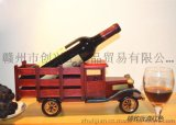 木制汽车酒架厂家直销 实木红酒架 木质酒架创意礼品 装饰摆件高档彩盒包装