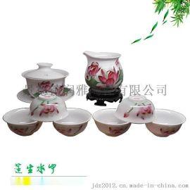 生产双层隔热陶瓷茶具 批发新年礼品茶具
