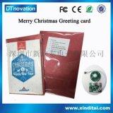 厂家圣诞主题卡片定制 可自选音频打开就播放音乐圣诞贺卡批发