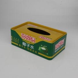 厂家定制通用食品包装盒 长方椰汁铁罐 个性纸巾盒 方形礼品铁盒