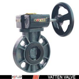 德国VATTEND671X-10\16上海生产厂家中德合资 德国vatten品牌、 涡轮UPVC蝶阀