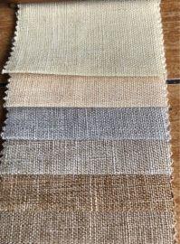 新款竹节亚光双色麻布 现货25色 仿麻沙发布抱枕面料家居装饰布