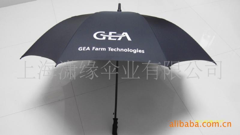 长柄高尔夫伞、玻纤伞骨 PG布 可印企业LOGO