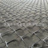 直销边坡防护网 喷播铁丝网勾花网 菱形镀锌铁丝网