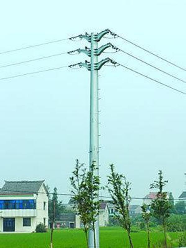 赤峯10KV電力杆、電力鋼管塔及太陽能路燈杆
