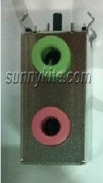 3.5mm红绿双层耳机插座