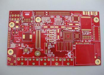 深圳PCB工廠四層紅油沉金線路板、多層阻抗板電路板