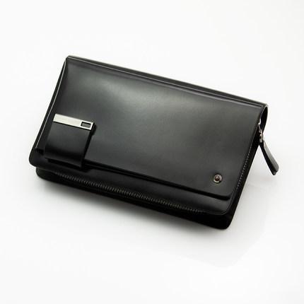 上海厂家订做新款手抓包真皮男士手包大容量 男包男手拿包商务夹包休闲