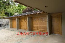 上海电动遥控翻版车库门_厂家直销上门安装