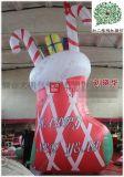 廠家訂製耶誕節景觀佈置氣模拱門、聖誕柺杖門頭裝扮美陳裝飾