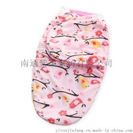 紫柔   双层短毛绒羊羔绒睡袋 宝宝襁褓宝宝抱毯 婴儿毯毛毯
