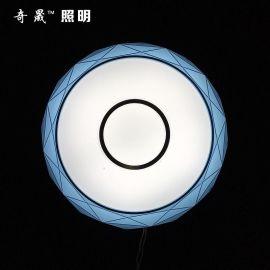 厂家直销 350  钻石圆形 吸顶灯 led灯 客厅卧室工程灯具灯饰