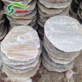 專業生產板巖 文化石 天然黃木紋板巖 公園鋪地踏步青石板大量批發
