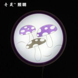 厂家直销 350蘑菇 吸顶灯 led吸顶灯 圆形客厅天花卧室灯具灯饰