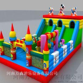 藍貓充氣大滑梯   兒童充氣滑梯 充氣滑梯   兒童玩具廠家