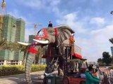 大象机械道具出租,恐龙道具出租,机械大象出租