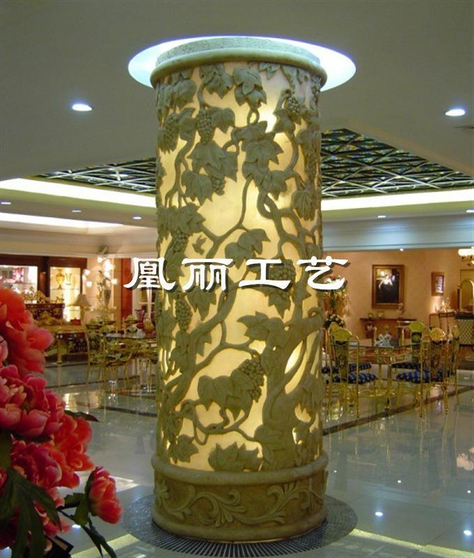 玻璃钢柱子 定做玻璃钢酒店装饰 欧式罗马柱欧式罗马柱头精雕图