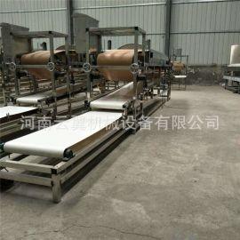 现货供应全自动蒸汽凉皮机 方形自行切条凉皮机 广东风味河粉机