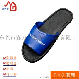 东莞静电低帮拖鞋软底男女工作鞋无尘净化车间pvc拖鞋厂家直销