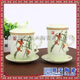 手工青花瓷茶杯  手绘花鸟小茶杯   办公用品茶杯