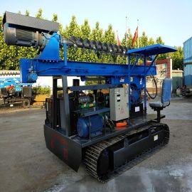 光伏工程桩孔行走打桩机 太阳能履带行走打桩机