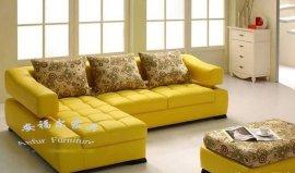 安福尔家具ZJ-041布艺沙发转角沙发大小户型真皮沙发现代简约型沙发组合沙